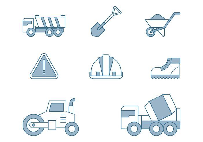 Iconos de reparación de carreteras