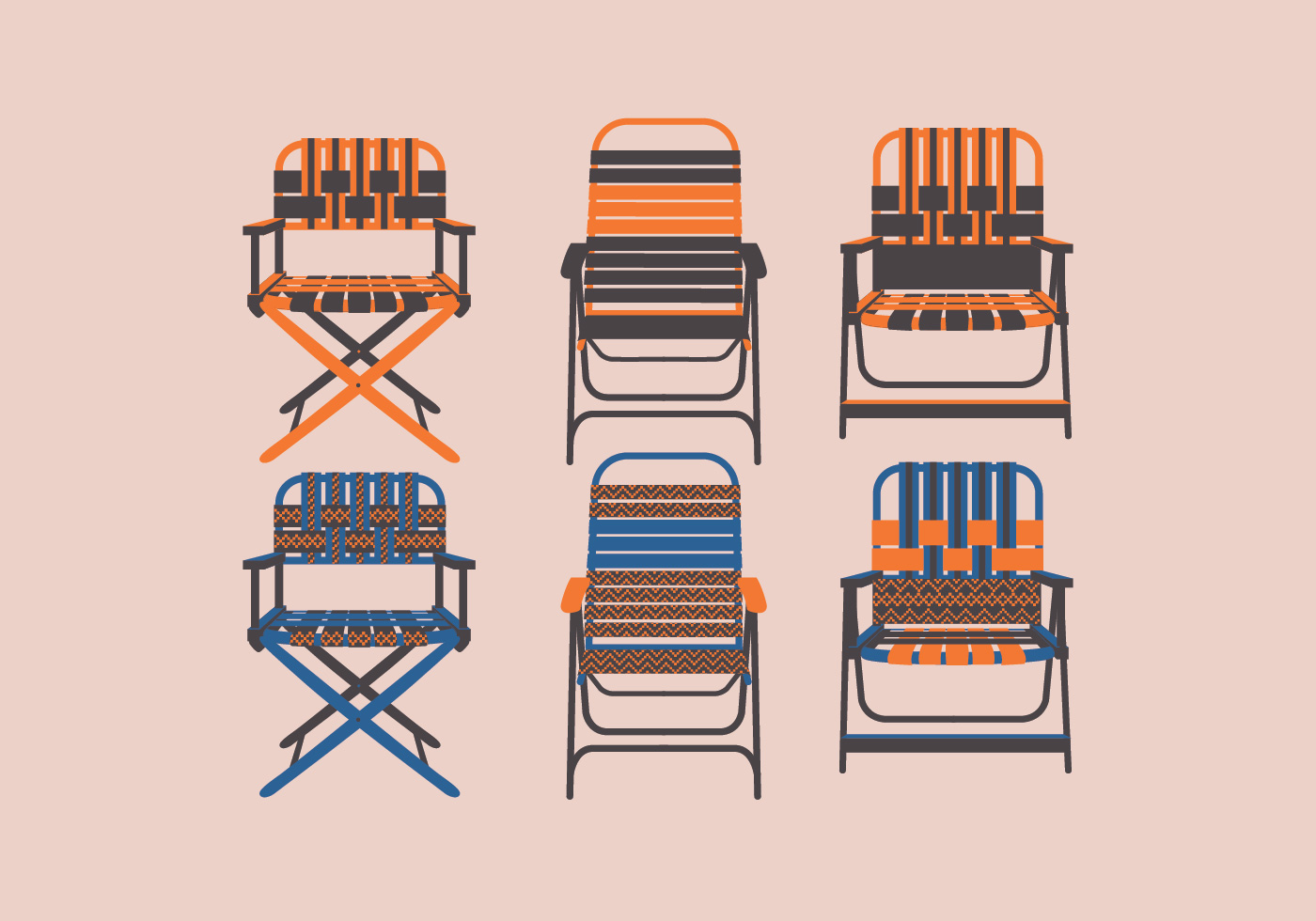 Lawn Chair Front View Vector Download Free Vectors