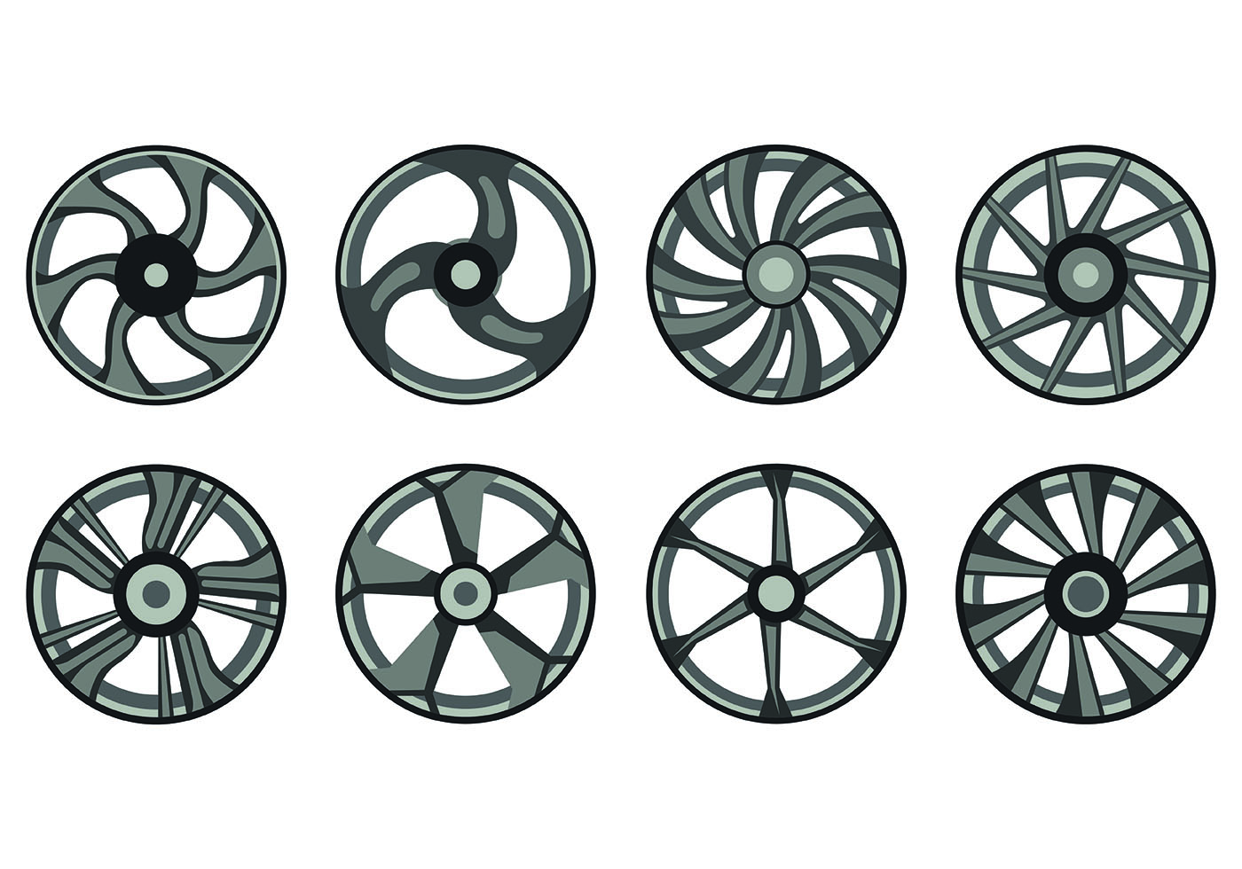 Icon Of Alloy Wheels Download Free Vector Art Stock Graphics Images