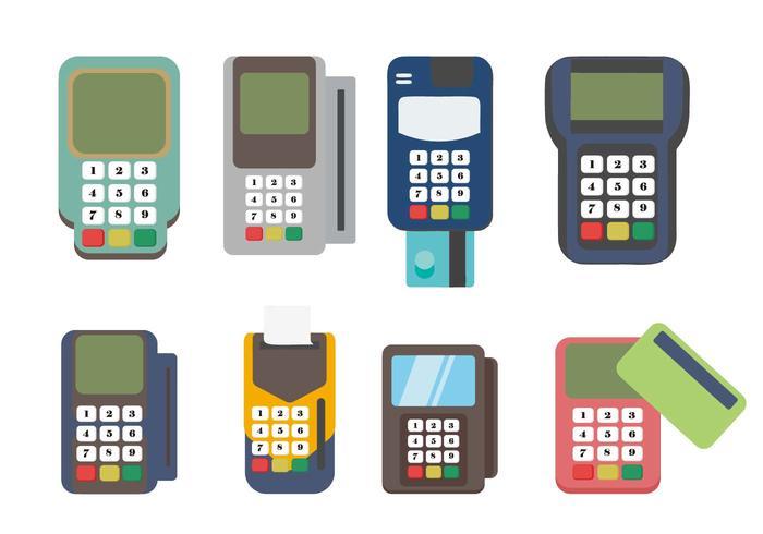 Libre de lectores de tarjetas de crédito Vector