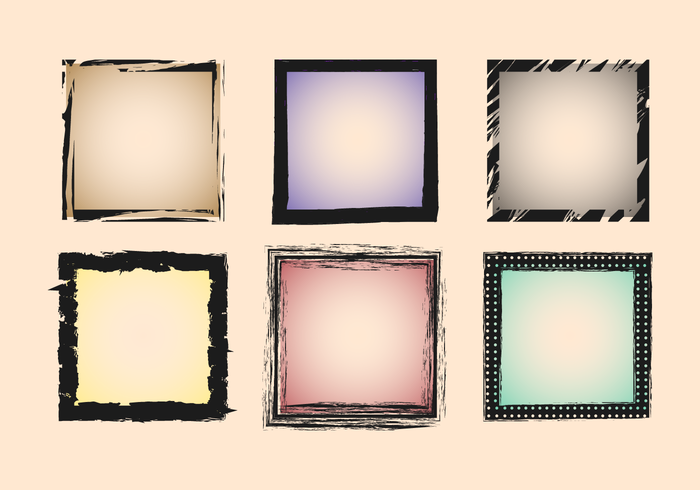 Vintage Square Photo Edges Vector