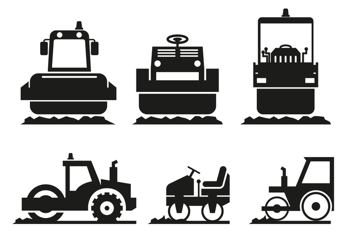Steamroller Icon Vector