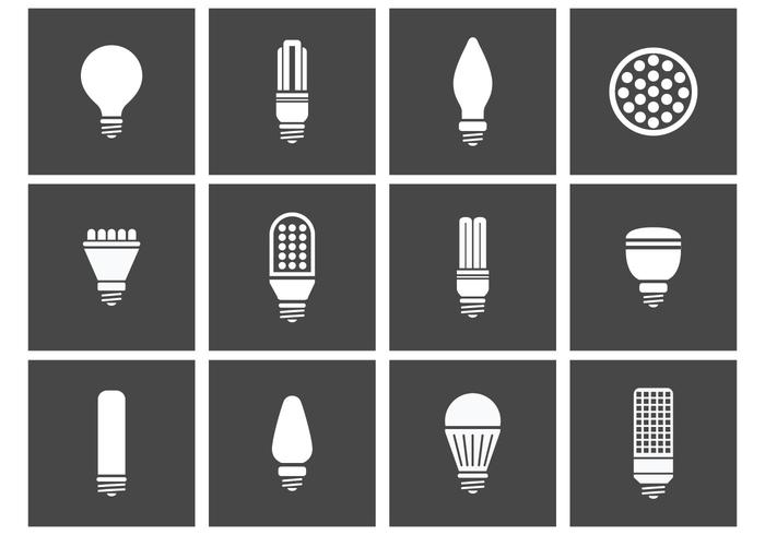 LED Lights Icons vector