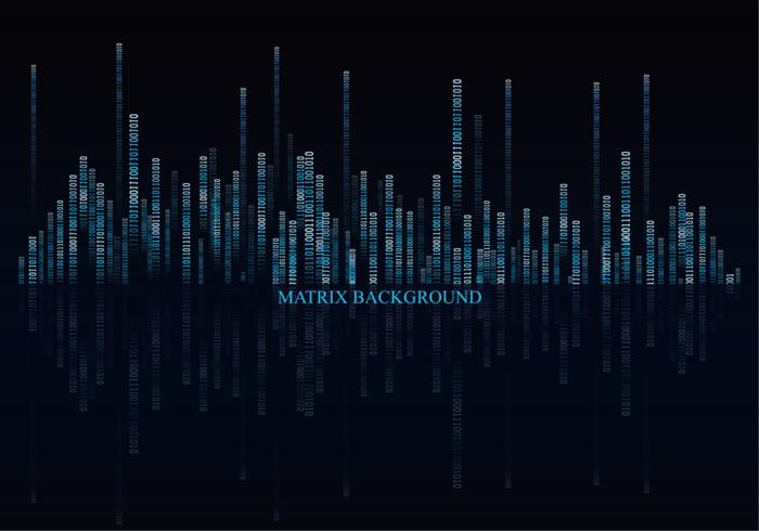 Donkere Matrix Achtergrond Vector
