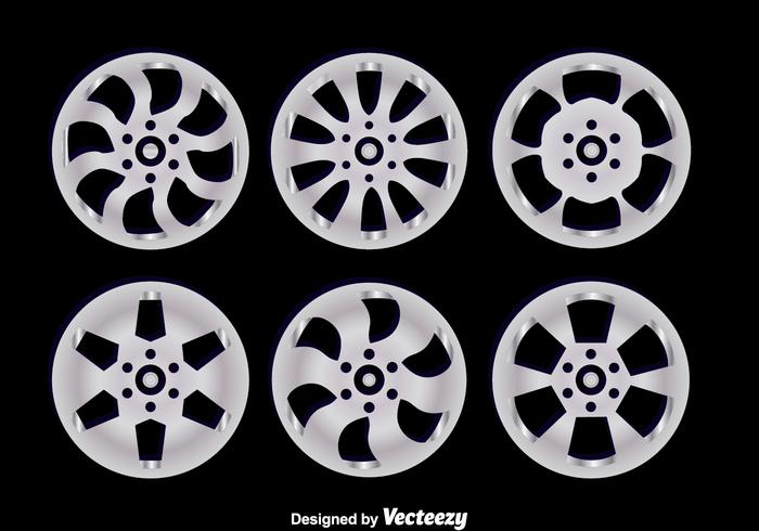 Alloy Wheels On Black Vectors