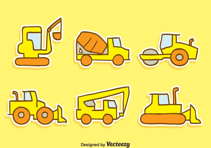 Hand Drawn Construction Machine Vectors