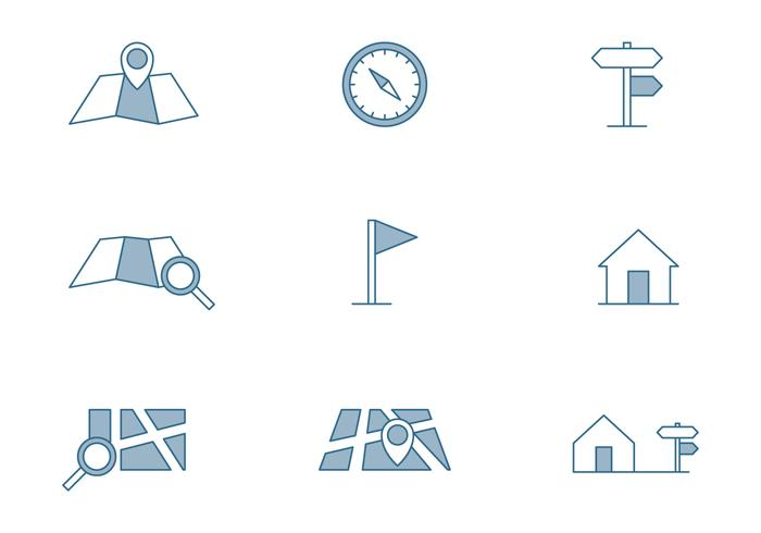 Kaart Symbool Pictogram
