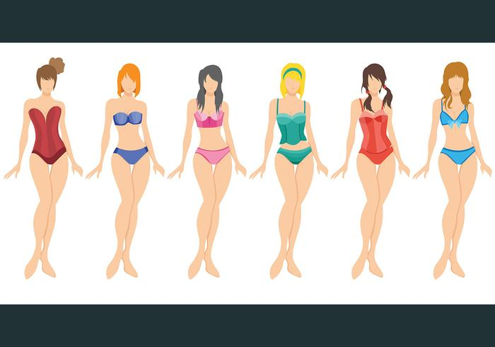 Bustier Vector Icons