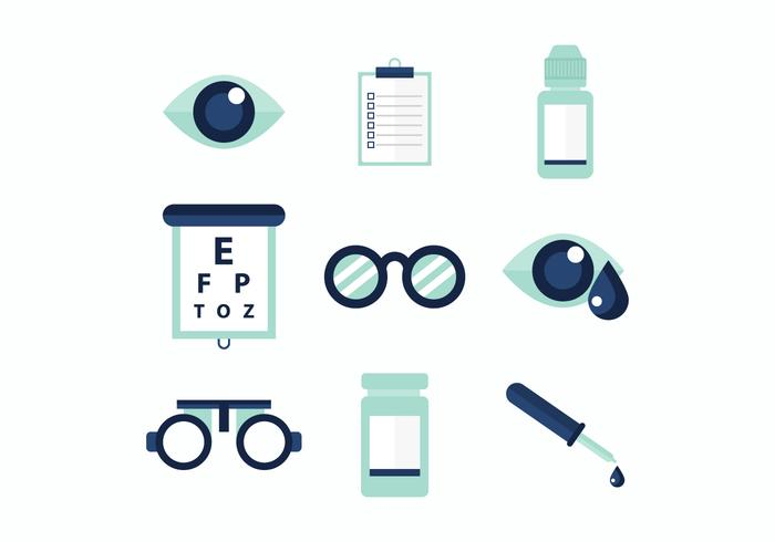 Gratis Eye Doctor Vector Pictogrammen