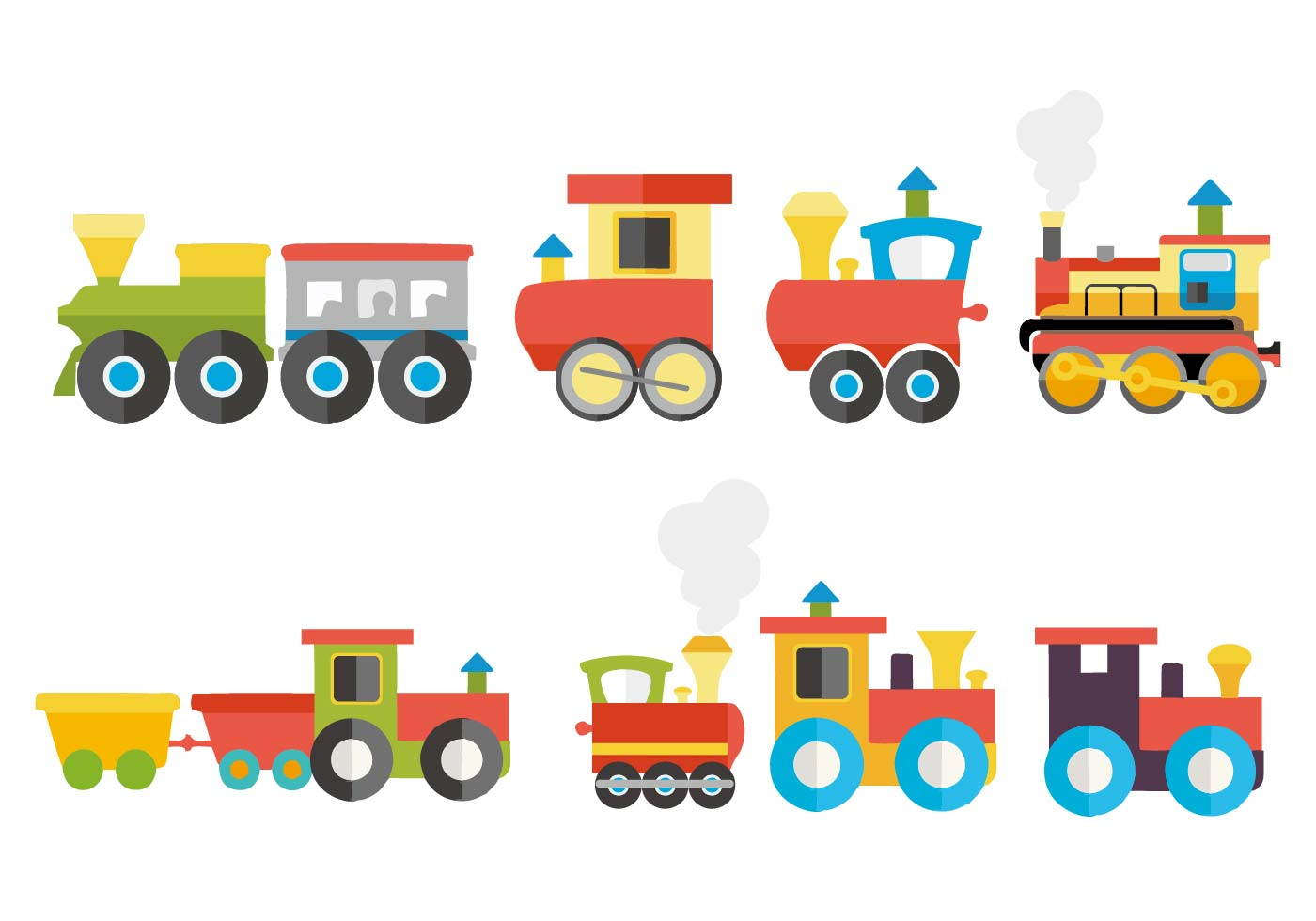 Bath Shower Seal Colorful Child Train Vector Download Free Vector Art