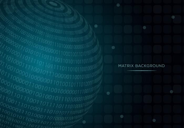 Sphere Matrix Achtergrond Vector