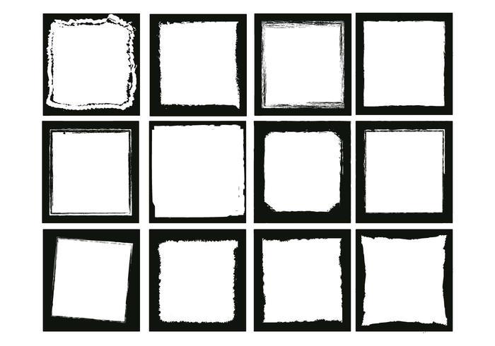 Foto randen vierkant vector set
