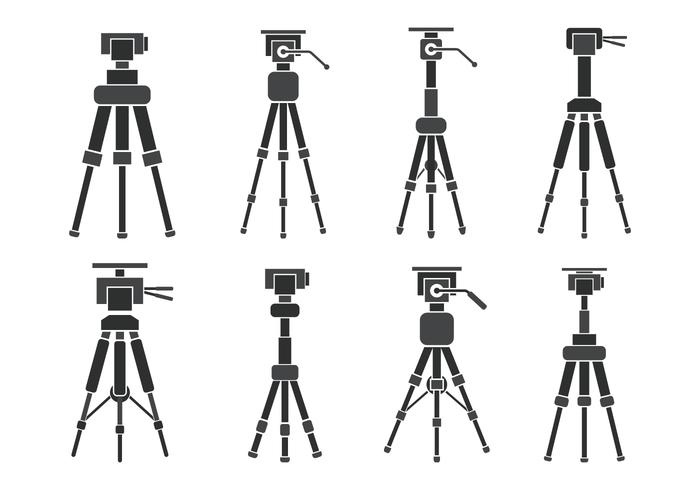 Camera Tripod Vector Icons