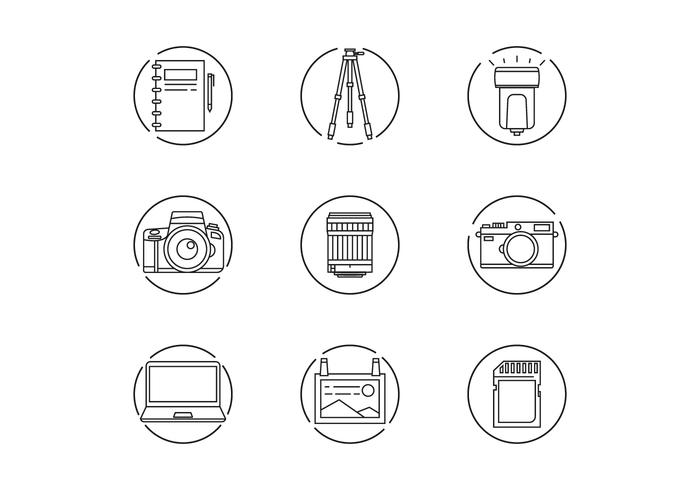 Photographer Gear Icons