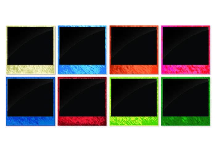 Helle Neon-Foto-Kanten-Vektoren