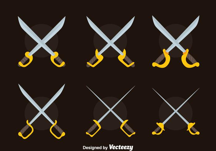 Nice Cross Sword Collection Vector