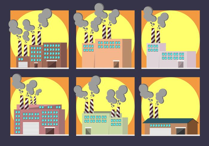 Smoke Stack Factory Pack Vector