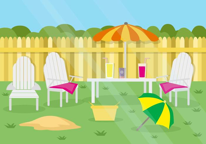 Free Summer Garden Party Background Vector Download Free Vectors Clipart Graphics Vector Art