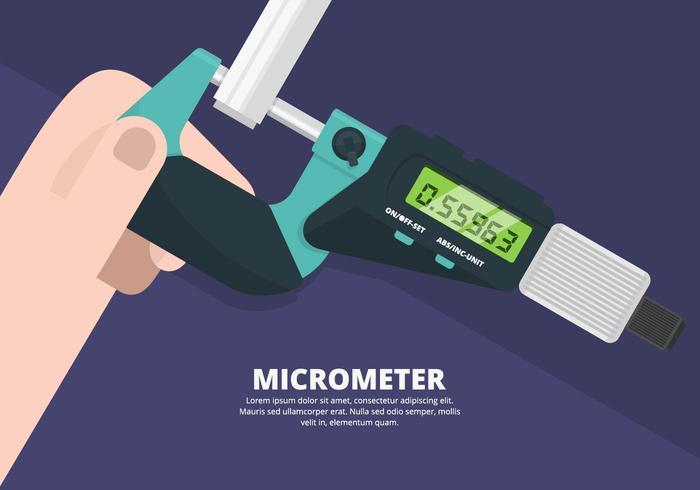 Ilustração do micrômetro