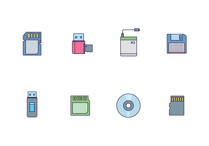 Icon Pack of External Storage Devices