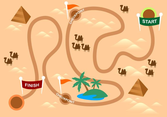 Desert Roadmap Gratis Vector