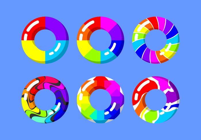 Rainbow Innertube Vector Libre