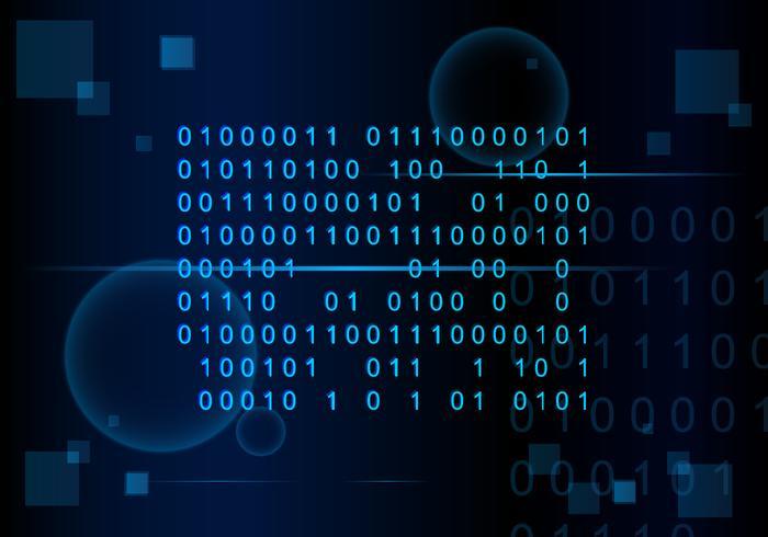 Anzahl Codierung Matrix Hintergrund Free Vector