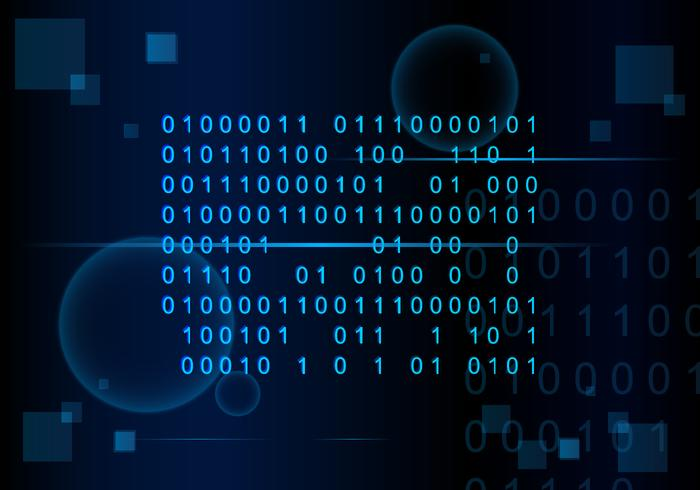 Number Coding Matrix Background Free Vector