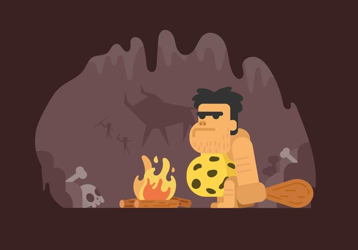 Prehistoric Caveman Illustration
