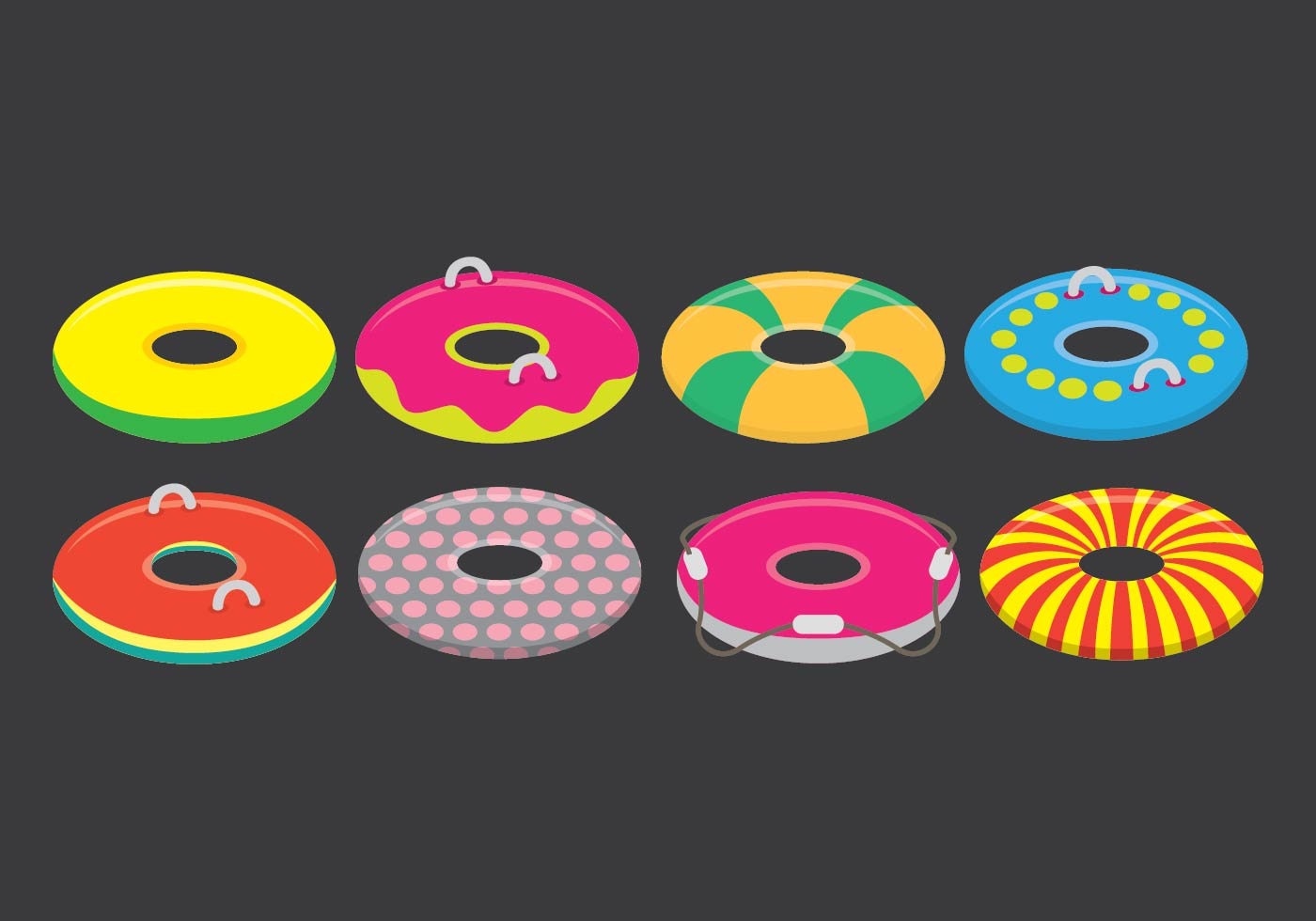 Innertube Icon Set Download Free Vector Art Stock