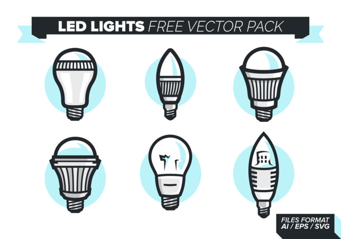 Led Lights Icons kostenlos Vector Pack