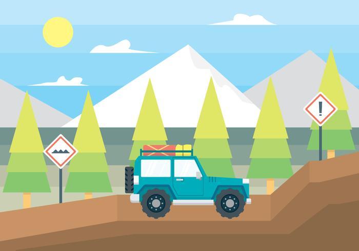 Off Road Car Illustration
