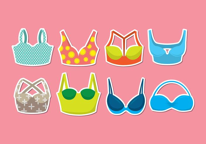 Bustier icon set