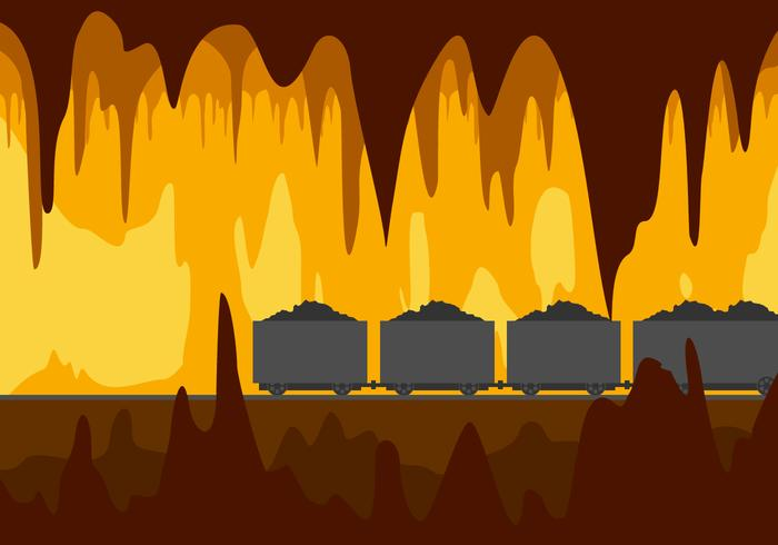 Mine Cavern Gratis Vector