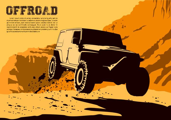 Jumping Offroad Vector