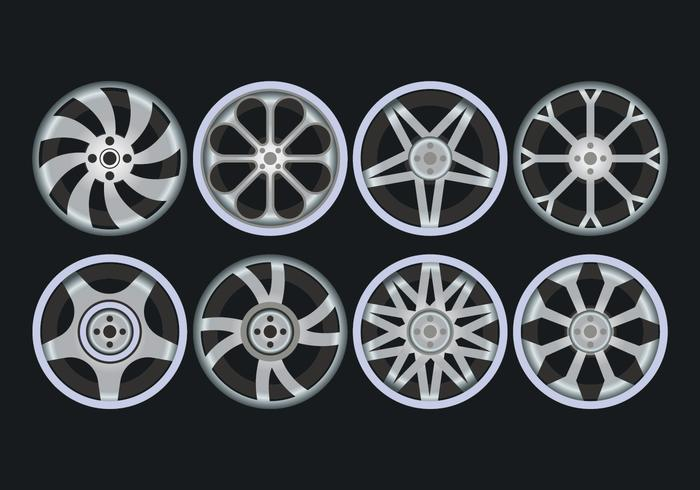 Alloy Wheels Icons Set