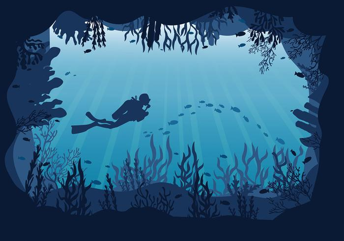 Caverna Underwater Free Vector