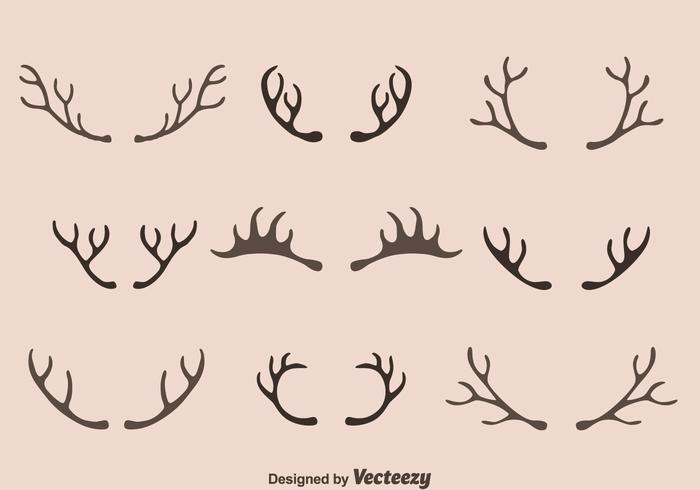 Caribou Horn Collection Vector