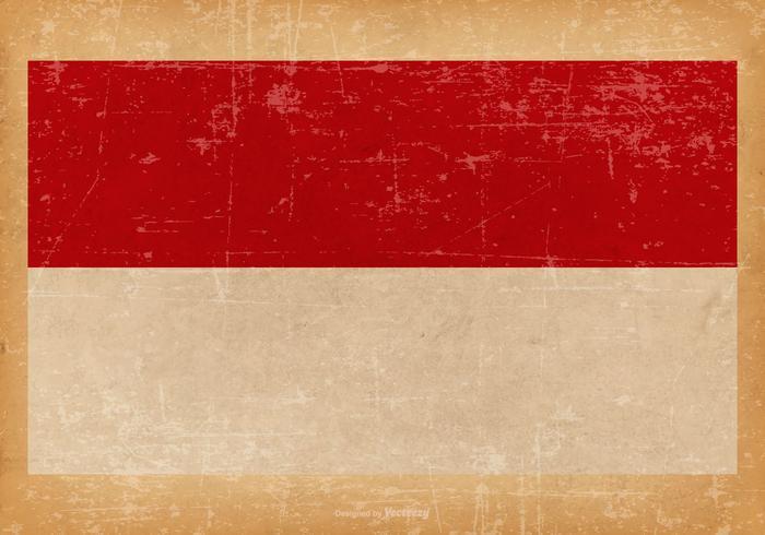 Grunge Bandera de Mónaco