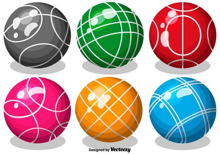Vector Color Bocce Balls