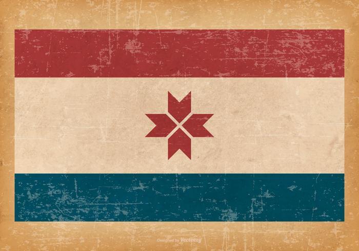 Grunge Flag of Mordovia