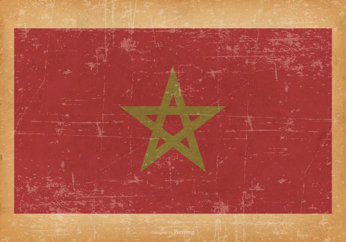 Grunge Vlag van Marokko