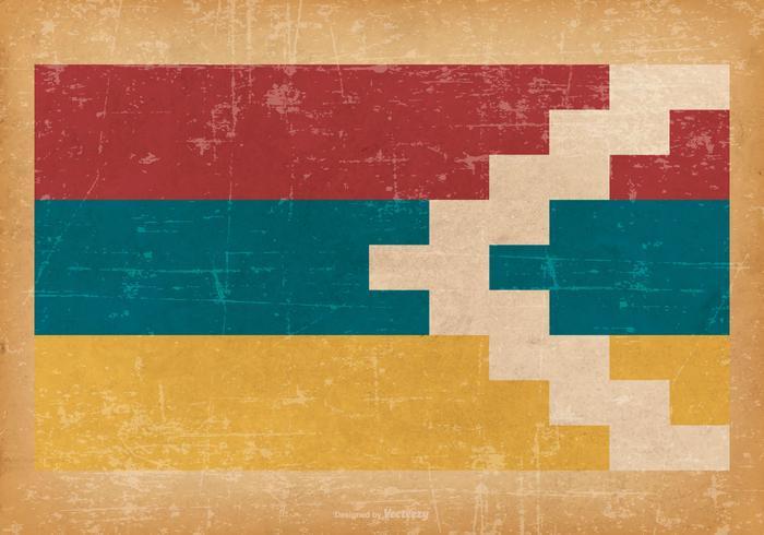Grunge Flagge von Nagorno Karabach