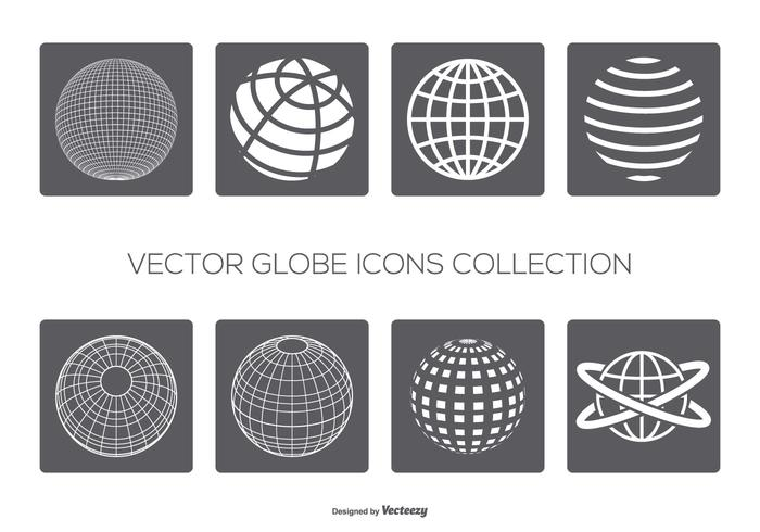 Vector globes icoon collectie