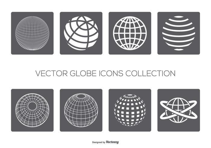 Vector globes icoon collectie