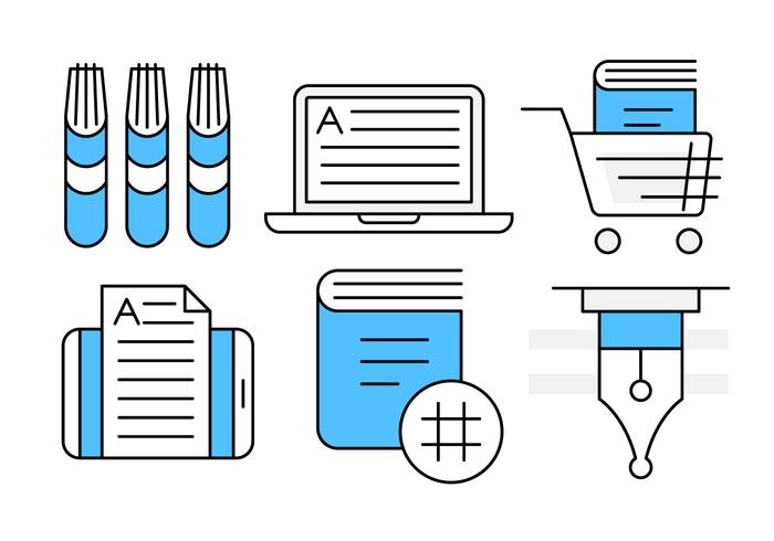 Linear Book Icons