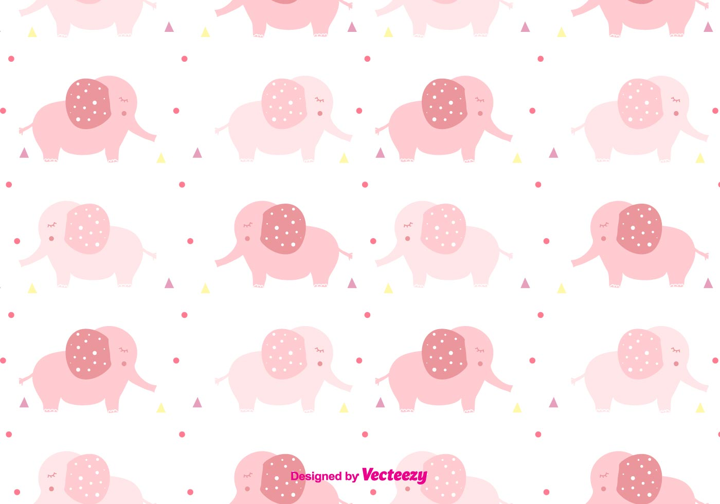 Girly Baby Elephant Pattern Download Free Vector Art