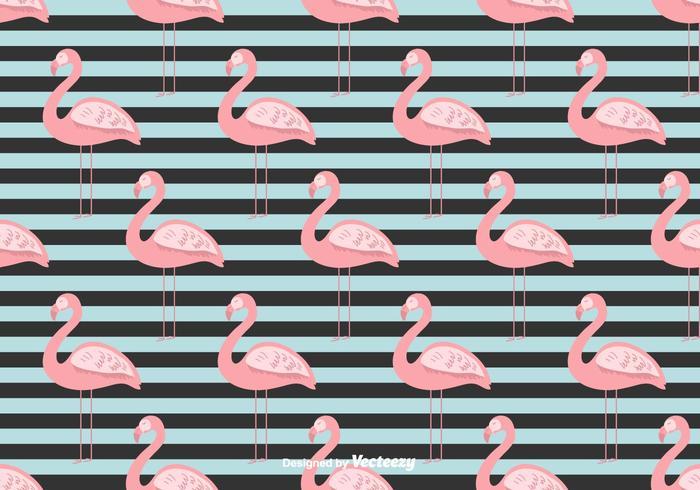 Summer Flamingo Vector Background