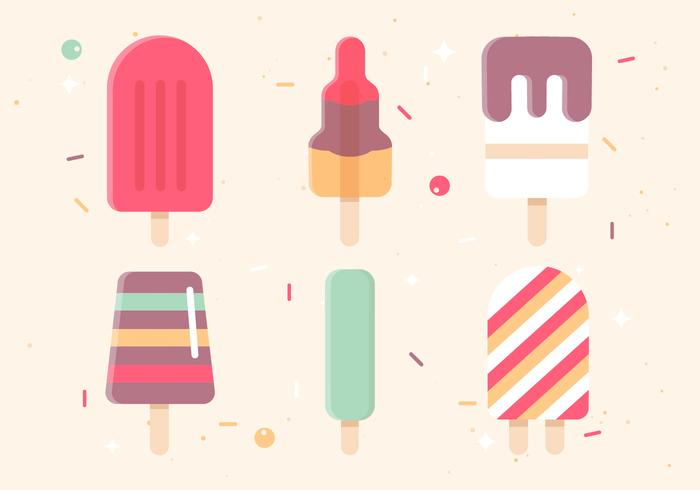 Free Flat Design Vector Ice Cream Icons
