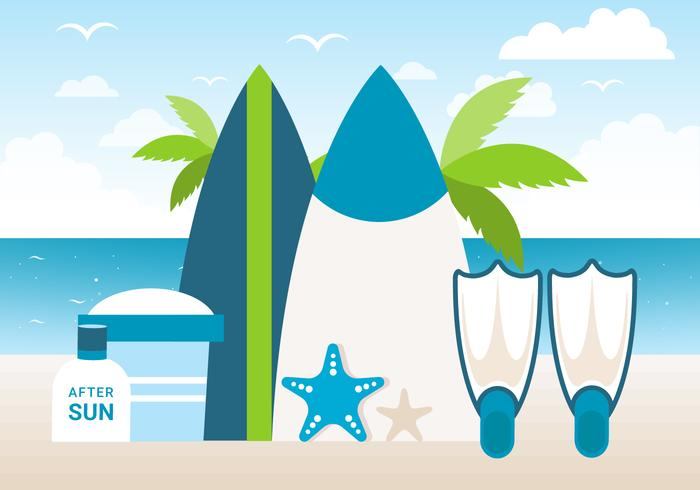 Free Design Vector Summer Time Background